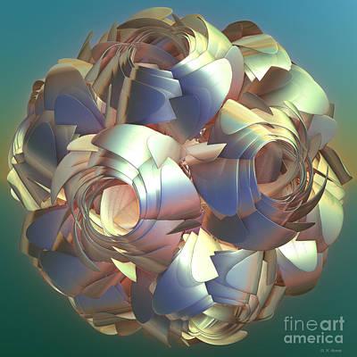 Incendia Digital Art - Flower Globe by Deborah Benoit