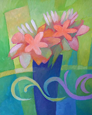 Flowerpots Painting - Flower Harmony by Lutz Baar