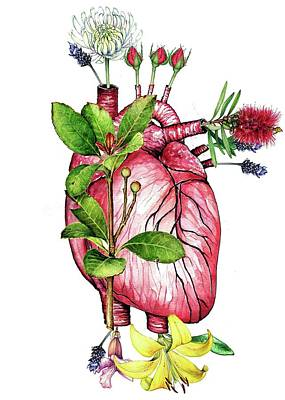Flower Heart Art Print by Heidi Kriel