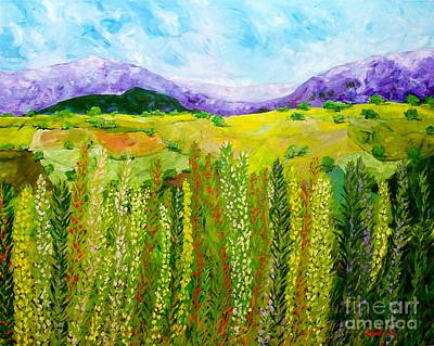 Painting - Flower Hedge by Allan P Friedlander