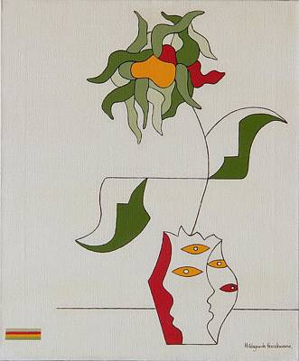Flower Art Print by Hildegarde Handsaeme
