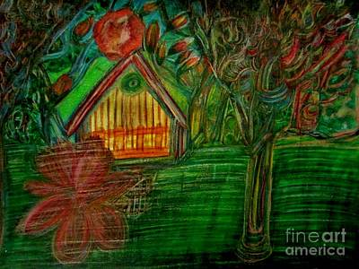 Water Color Painting - Flower House  by Stephanie Zelaya