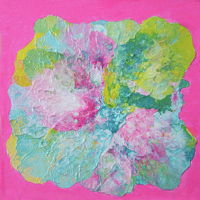 Painting - Abstract Flower In Pink Surround by Deborah Boyd