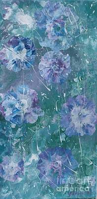 Painting - Flower In Blue by Lori Jacobus-Crawford