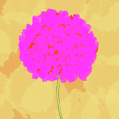 Flower In Pink Art Print by Skip Nall
