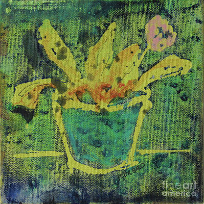 Painting - Flower In Pot  by Robin Maria Pedrero