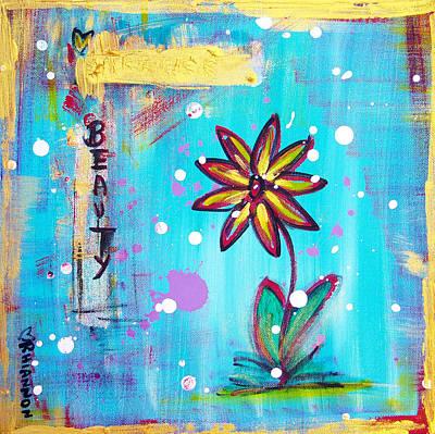 Flower In Snow Original