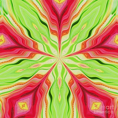 Digital Art - Flower In The Kaleidoscope by D Hackett