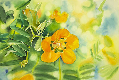 Wall Art - Painting - Flower In The Light by Terry Arroyo Mulrooney