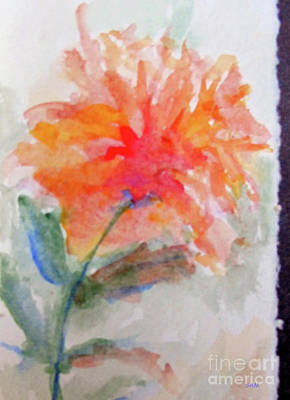 Painting - Flower In Watercolor 2 by Sandy McIntire