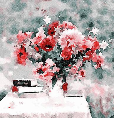 Digital Art - Flower In Watercolor by Yury Malkov
