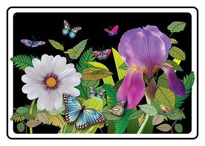 Bearded Lady Greetings Digital Art - Flower Jungle by Cathy Franklin