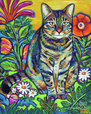 Painting - Flower Kitty by Robert Phelps