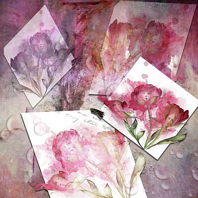 Digital Art - Flower Ladies by Sue Masterson