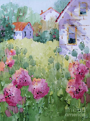 Painting - Flower Lady's Poppies by Joyce Hicks