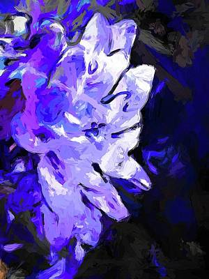 Digital Art - Flower Lavender Lilac Blue by Jackie VanO