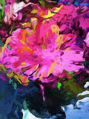 Digital Art - Flower Lolly Pink Yellow by Jackie VanO
