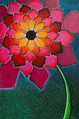Wall Art - Painting - Flower Mandala-a by Elsie Porter