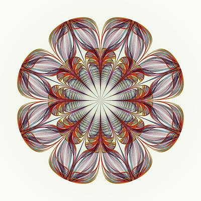 Digital Art - Flower Mandala by Anastasiya Malakhova