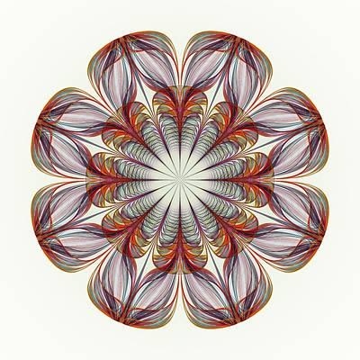 Digital Art - Flower Mandala by Anastasiya Malakhova