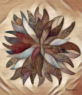 Digital Art - Flower Mandala In Cinnamon by Megan Walsh