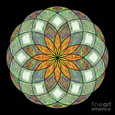 Digital Art - Flower Mandala Painted By Kaye Menner by Kaye Menner