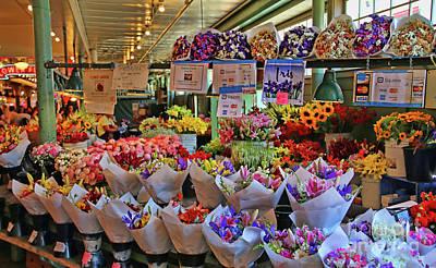 Photograph - Flower Market  2408 by Jack Schultz