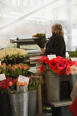 Photograph - Flower Market by Catherine Alfidi