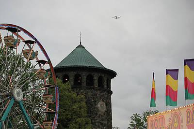 Funland Photograph - Flower Market Ferris Wheel  by Susan Hendrich