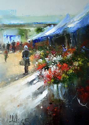 Painting - Flower Market by Igor Medvedev