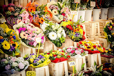 Photograph - Flower Market by Jason Smith