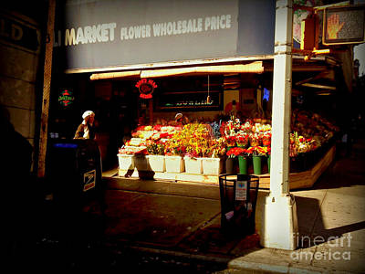 Photograph - Flower Market by Miriam Danar