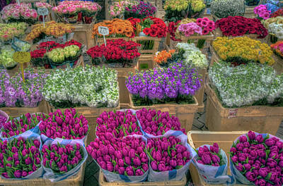 Photograph - Flower Market by Nadia Sanowar