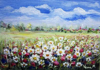 Painting - Flower Meadow 1 by Vesna Martinjak