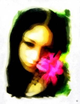 Gree Digital Art - Flower Memory by Gun Legler