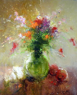 Painting - Flower Mix Bouquet by Igor Medvedev