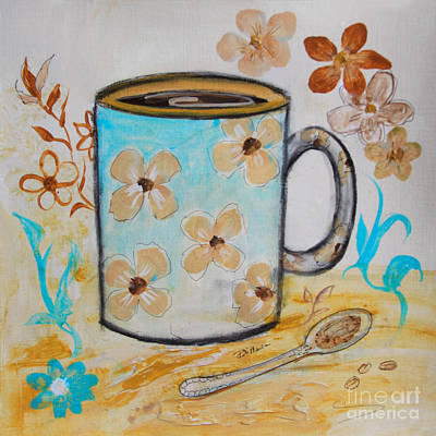 Painting - Flower Mug by Robin Maria Pedrero