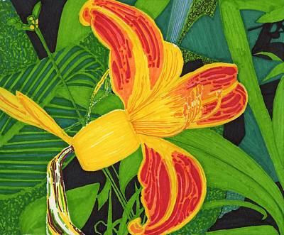 Flower Num 6 Art Print