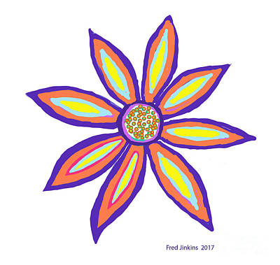 Digital Art - Flower Of Joy by Fred Jinkins