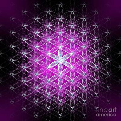 Digital Art - Flower Of Life Basic by Alexa Szlavics