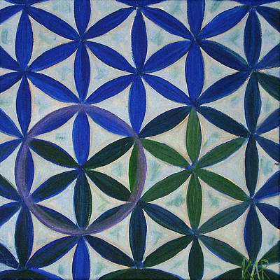 Chakra Painting - Flower Of Life Pattern by Art by Kar