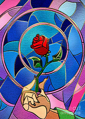 Digital Art - Flower Of Love by Three Second