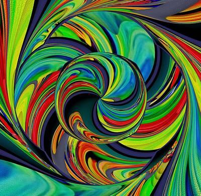Digital Art - Flower Of Space by Halina Nechyporuk
