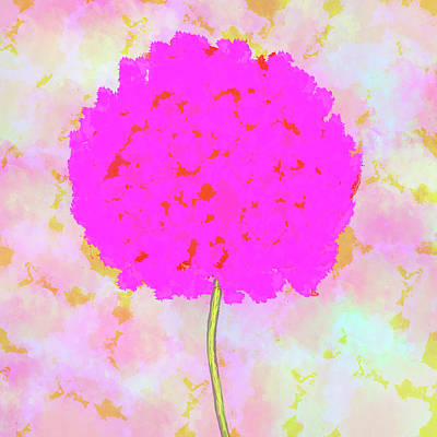Flower On Pink Art Print by Skip Nall