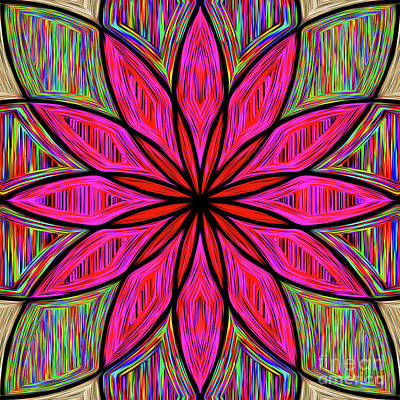Photograph - Flower On Rainbow Mandala By Kaye Menner by Kaye Menner