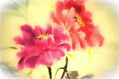 Digital Art - Flower Painting In Watercolor by Ed Churchill