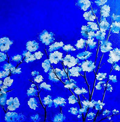 Flower Painting - Plum Blossom Art Print by Jan Matson