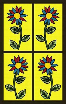 Flower Pane Art Print