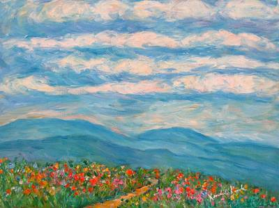 Flower Path To The Blue Ridge Art Print