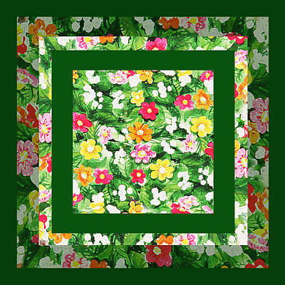 Painting - Flower Pattern Art Quilt II by Irina Sztukowski